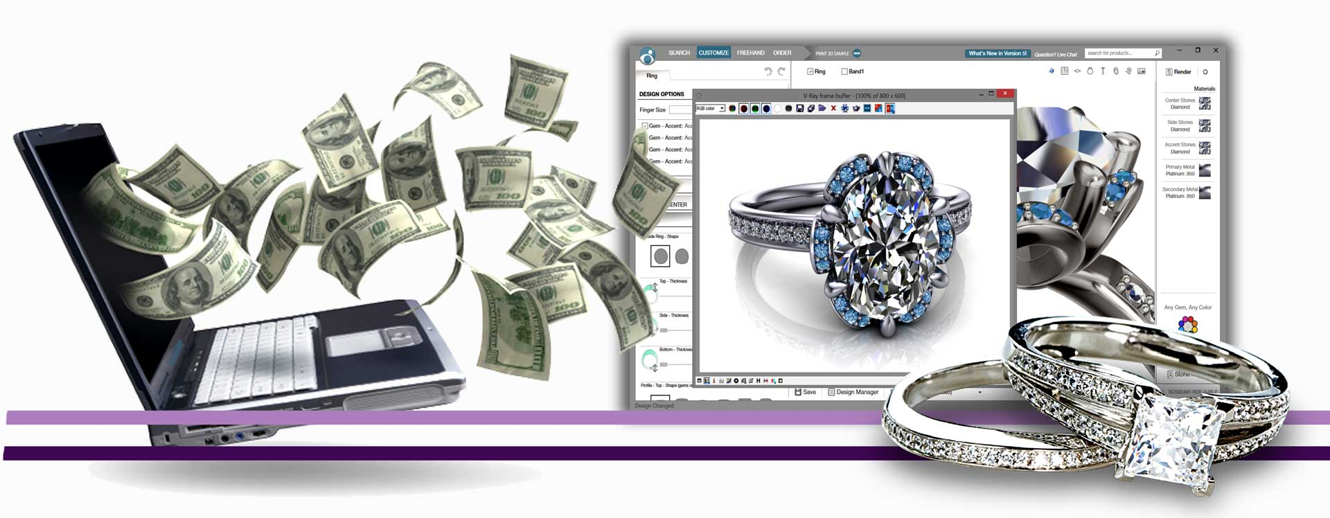 طراحی جواهرات سفارشی