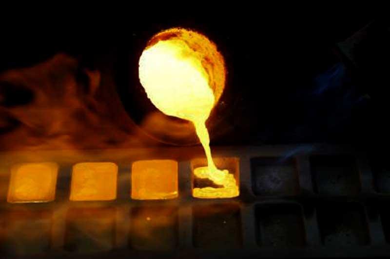طلای آب شده و شمش
