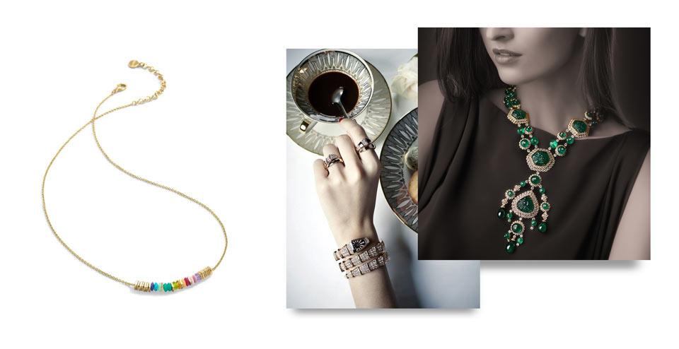 ترکیب ست کردن لباس با جواهرات