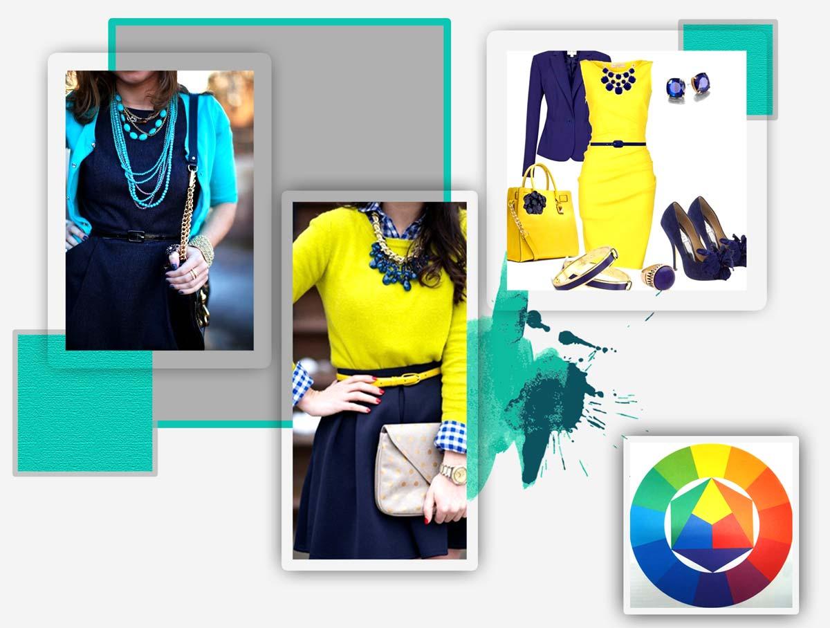 ست کردن رنگ لباس و جواهرات چگونه است