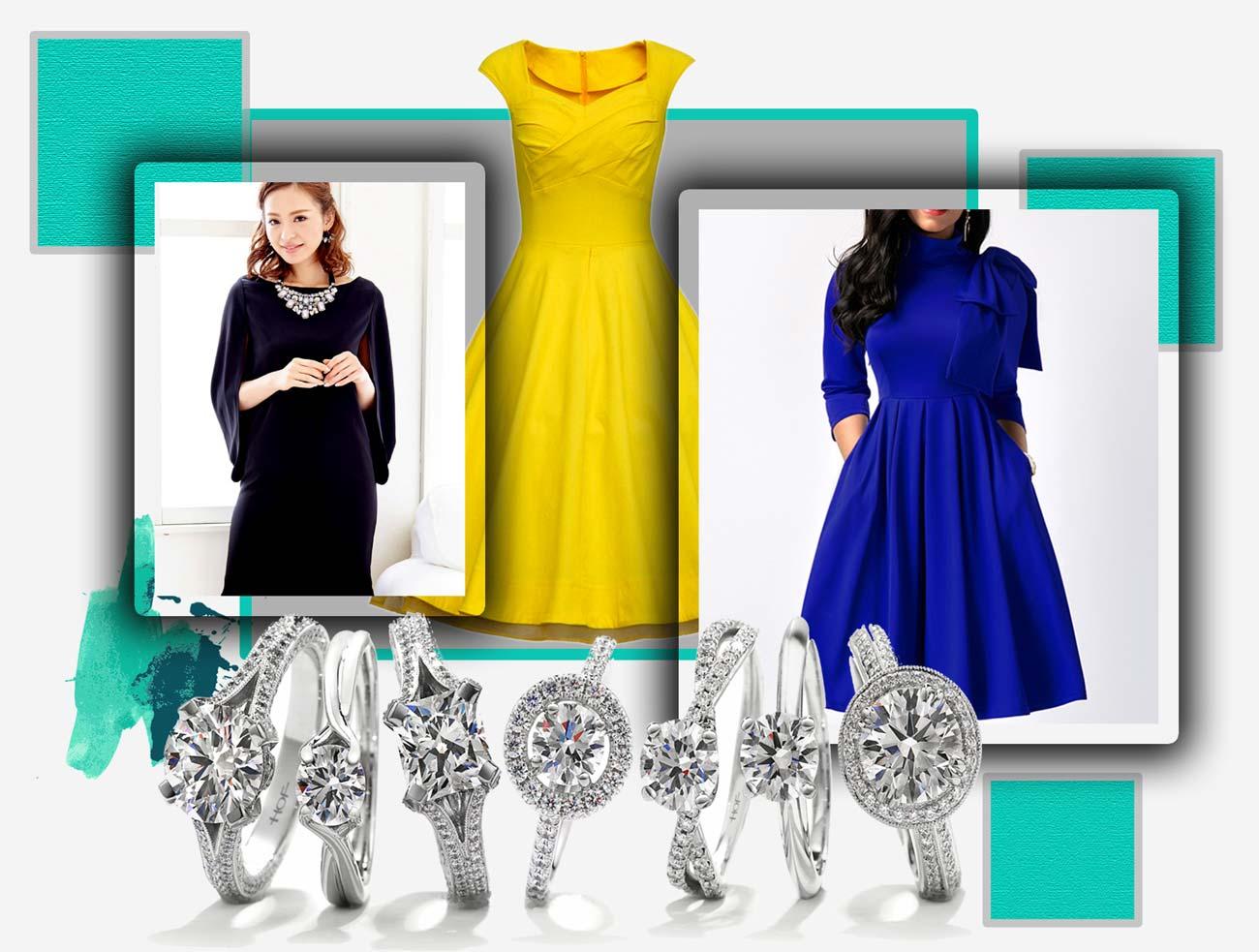 ست کردن رنگ لباس و جواهرات