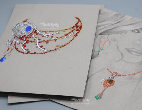 طراحی جواهرات دستی